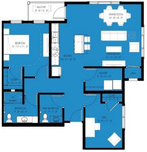 1 bed apartment with den senior living in wright county mn